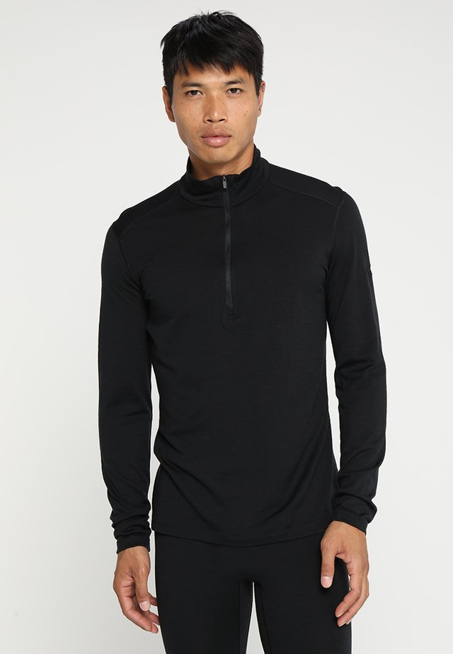 HALF ZIP - Unterhemd/-shirt - black