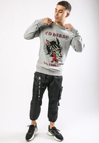 Ed Hardy - BIG-BAD CREW NECK SWEATSHIRT - Sweatshirt - grey marl - 1