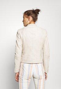 Gipsy - GGNIDEL LAMAS - Leather jacket - off white - 2