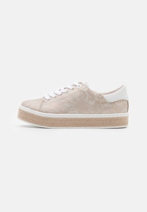 LACE UP - Matalavartiset tennarit - beige