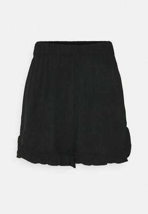 ONLNOVA LIFE FRILL - Shorts - black