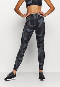 Under Armour - RUSH CAMO LEGGING - Leggings - black - 0