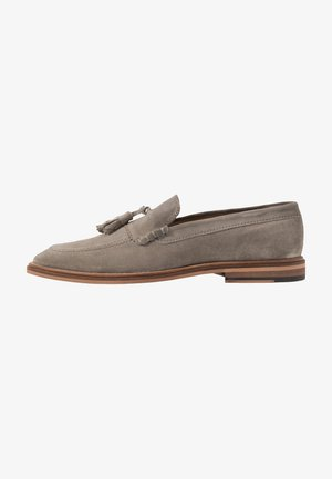 WEST TASSEL LOAFER - Smart slip-ons - grey/blue