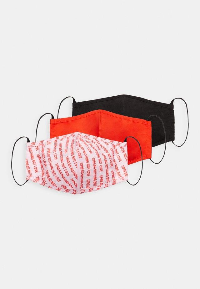 3 PACK - Munnbind i tøy - pink/black/red