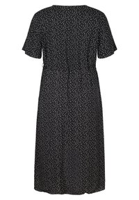 Zizzi - SHORT-SLEEVED WRAP - Day dress - black - 4