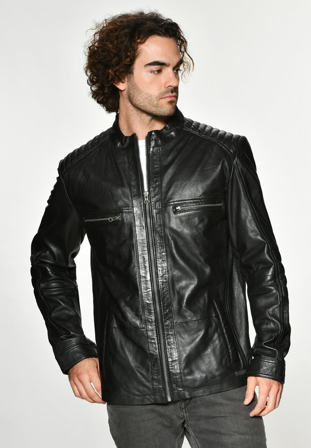 FABIANO - Leren jas - black
