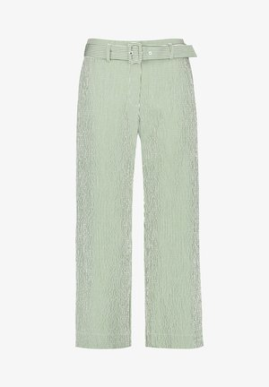 Pantalon classique - ecru/weiss/grün streifen