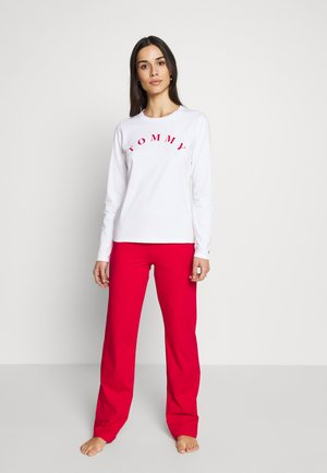 SLEEP SET - Pyjama set - white/tangored