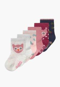 Ewers - BABYSOCKS OWL 6 PACK - Socks - marone/latte - 0