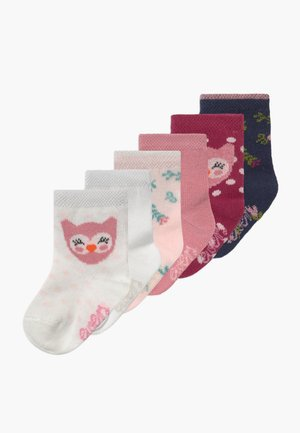 BABYSOCKS OWL 6 PACK - Socks - marone/latte