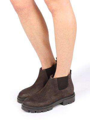 Ankle boots - dark brown, mottled dark brown