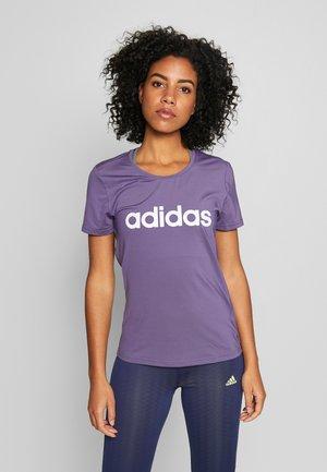 DESIGN 2 MOVE LOGO TEE - T-Shirt print - tech purple/white
