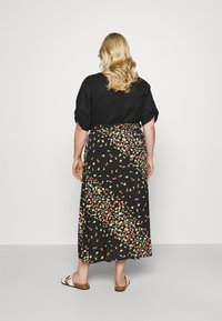 Simply Be - SKIRT WITH SIDE SPLIT - A-line skirt - black fruit print - 2