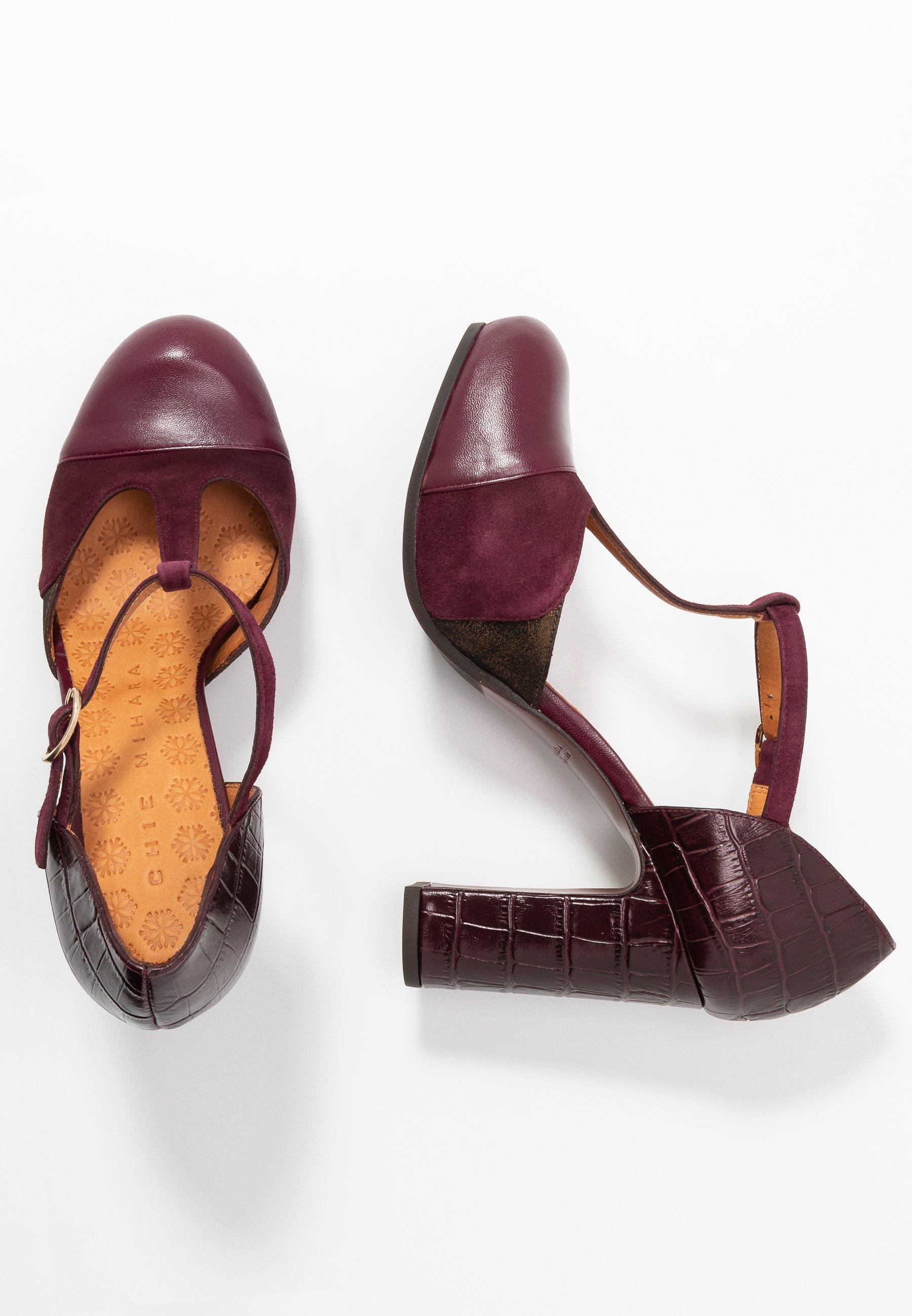 Chie Mihara DARCO - High heels - freya grape/lame bronce/kenya