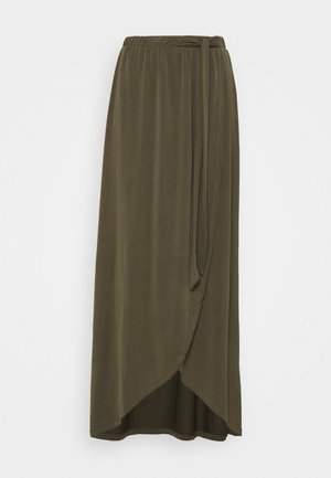 OBJANNIE SKIRT - Maxi skirt - forest night