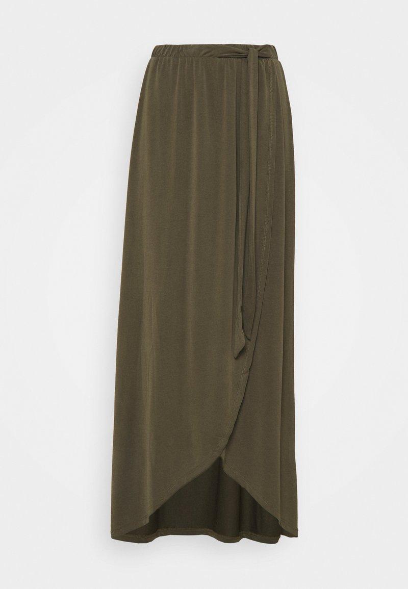 Object Tall - OBJANNIE SKIRT - Maxi skirt - forest night