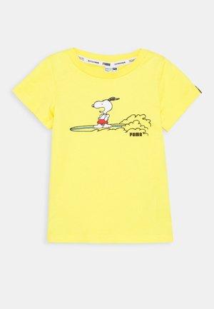 PEANUTS TEE UNISEX - T-shirt print - yellow