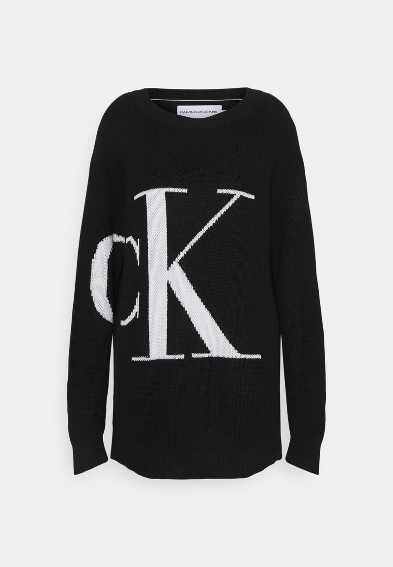 Calvin Klein Jeans - SLICED OVERSIZED SWEATER - Jumper - black