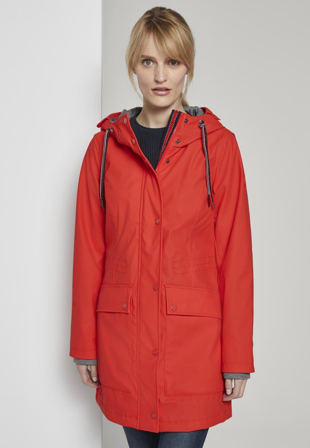 PADDED RAINCOAT - Parka - strong red