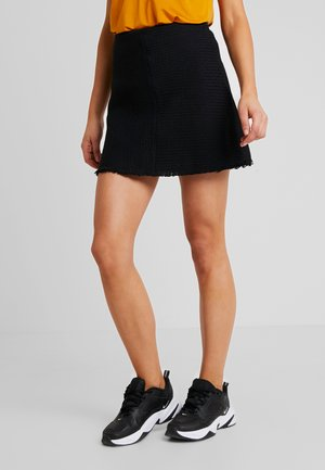 ABIONA SKIRT - Jupe trapèze - black