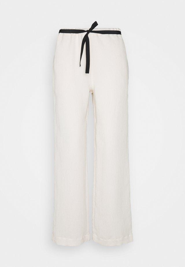 3D TROUSER - Spodnie materiałowe - ecru