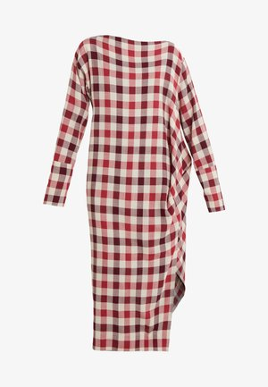 BOXY FARRITA DRESS - Denní šaty - beige/fuchsia