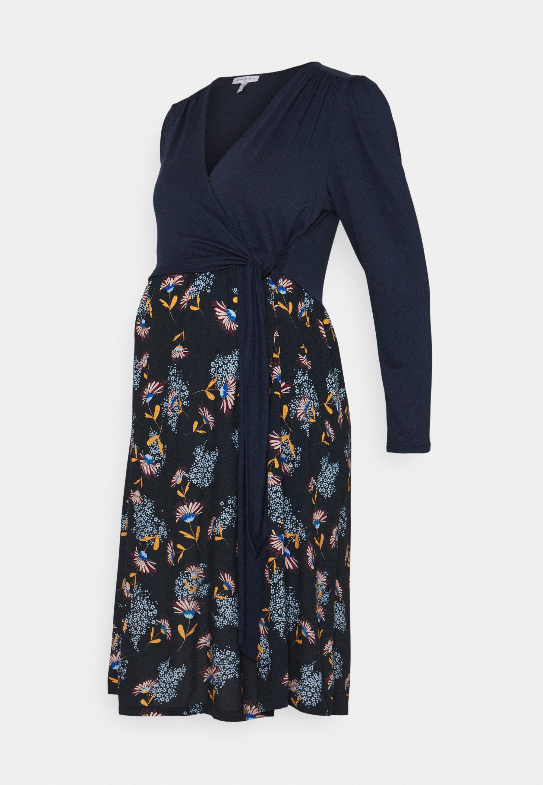 Women CLAIRE  - Jersey dress - navy blue