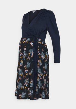 CLAIRE  - Jersey dress - navy blue