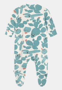 The Bonnie Mob - RELAX PRINTED ZIP FRONT UNISEX - Sleep suit - white/green - 1