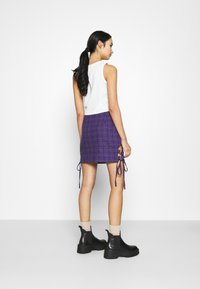 The Ragged Priest - CHECK MINI SKIRT - Minihame - purple - 2