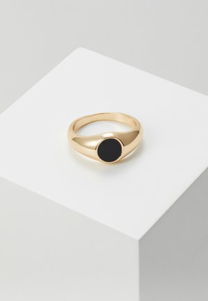 SIGNET LARGE - Anillo - black/gold-coloured