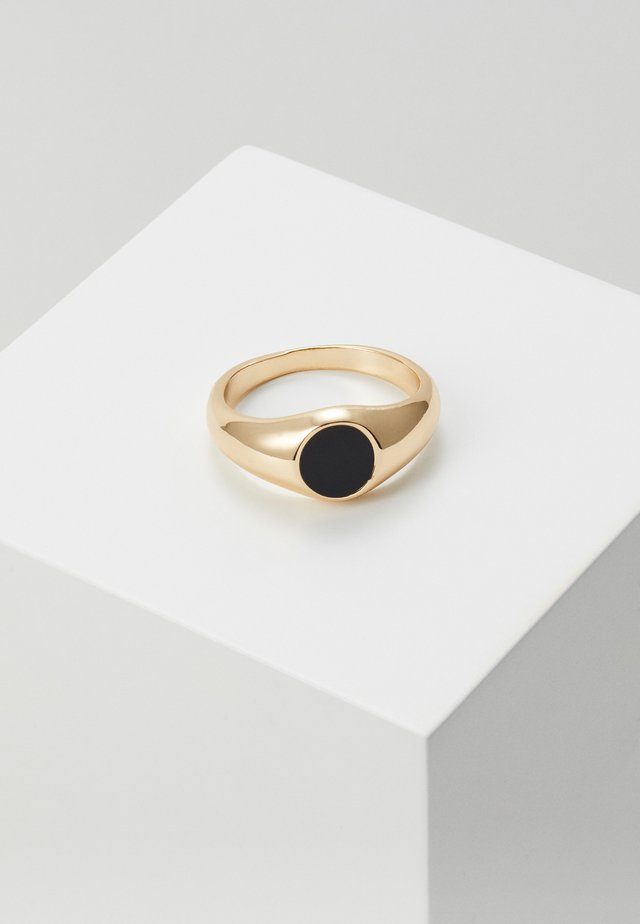 SIGNET LARGE - Anello - black/gold-coloured