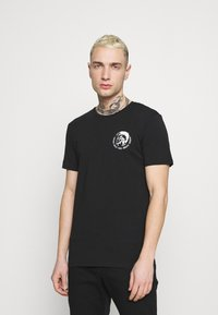 Diesel - UMTEE RANDAL 3 PACK - T-shirt basic - black/pink/grey melange - 1