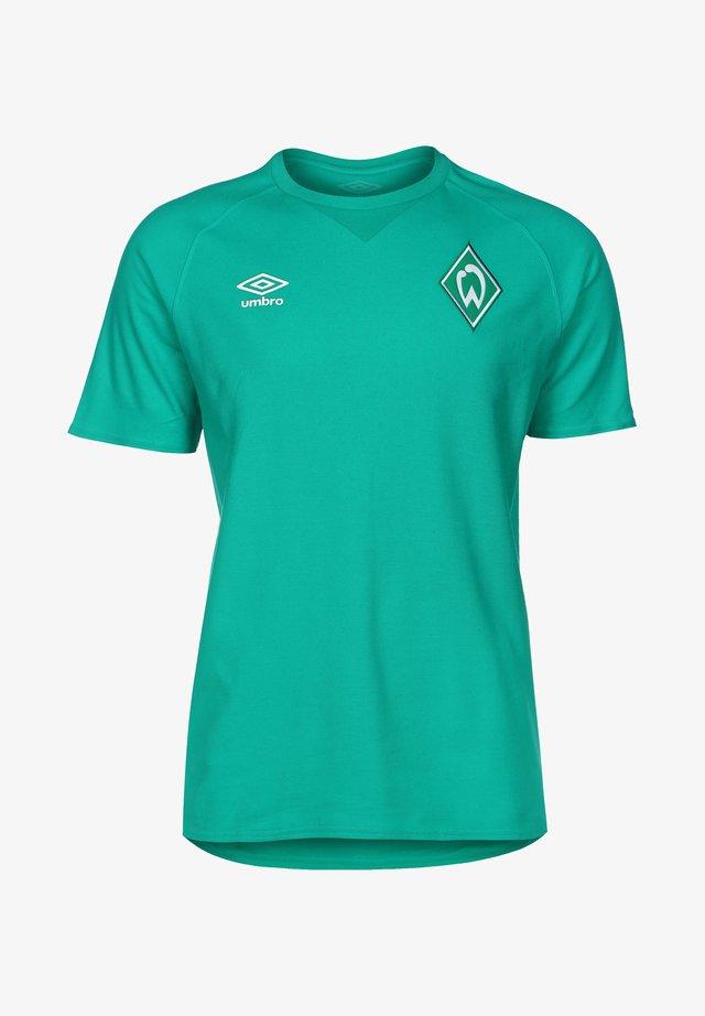 Print T-shirt - spectra green