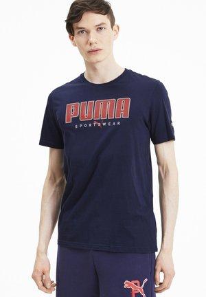 ATHLETICS  - Print T-shirt - peacoat