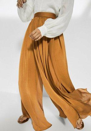 FLIESSENDER - Jupe trapèze - brown