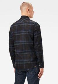 G-Star - 3301 SLIM LONG SLEEVE CHECK - Overhemd - pitch black yoko check - 1