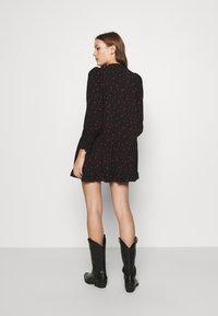 Dorothy Perkins - HEART PRINT SMOCK MINI DRESS - Day dress - black - 2