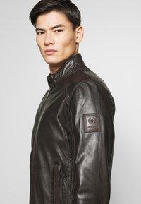 Strellson - FLAG - Leather jacket - dark brown - 7