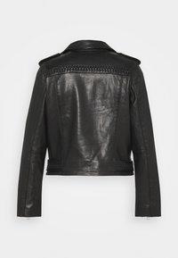 AllSaints - BRAIDED BIKER - Leather jacket - black - 1