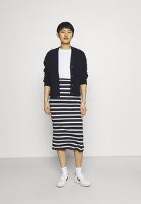 GANT - BRETON STRIPE SKIRT - Pencil skirt - evening blue - 4