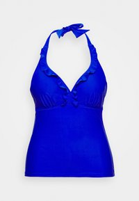 Pour Moi - SPLASH FRILL UNDERWIRED HALTER TANKINI - Bikini top - blue - 3