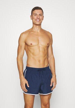 TAN SWIM - Swimming shorts - dark blue/white