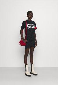 GCDS - WRAPPED DRESS - Day dress - black - 1