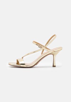 TASHA - High heeled sandals - pale gold