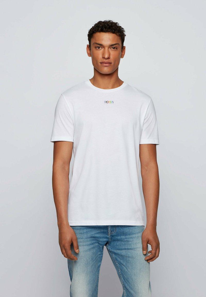 BOSS - TLOVE  - Print T-shirt - white