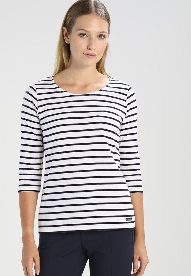 CAP COZ - T-shirt à manches longues - blanc/rich navy