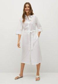 Mango - Košilové šaty - white - 0