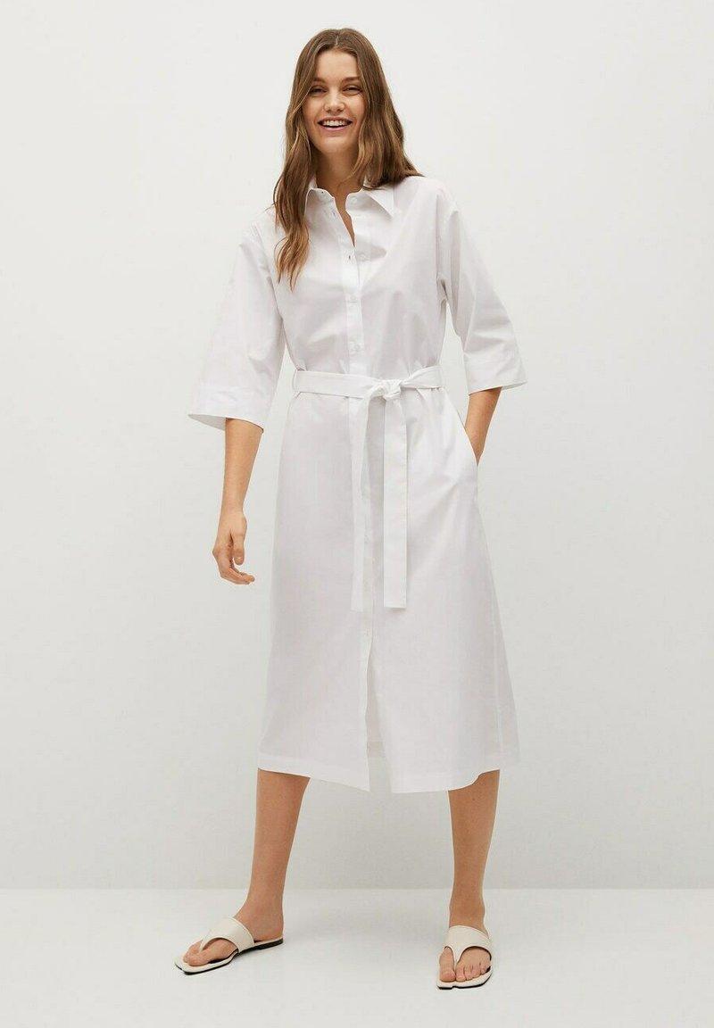 Mango - Košilové šaty - white