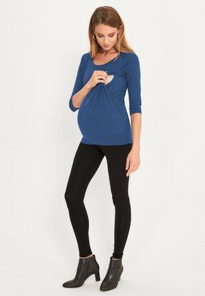 2 IN 1 BASIC - Longsleeve - blue jeans